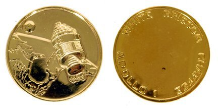 401: Gold-Plated Sterling Apollo 1 Medallion