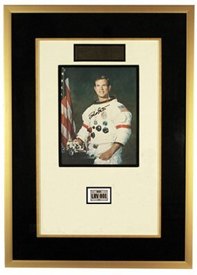 708: FLOWN Apollo 15 Lunar Rover License Plt