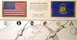 Flown Apollo 11(to Moon) & ASTP Flags
