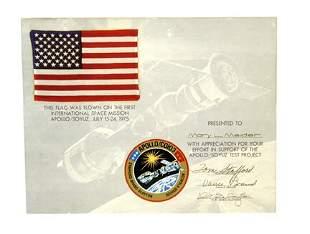 ASTP Flown U.S. Silk Flag