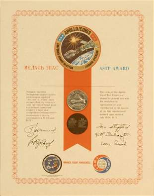 Manned Flight Awareness ASTP Medallion