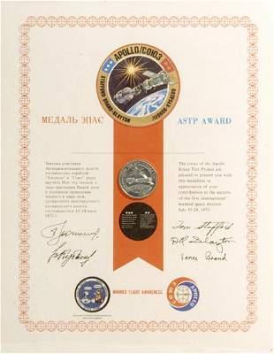 ASTP Manned Flight Awareness Medallion