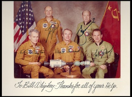 845: ASTP Crew Signed Photo