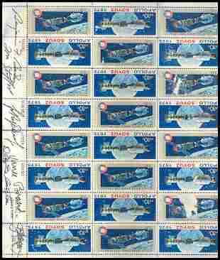 ASTP Crew Signed Stamp Sheet