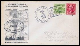 "1933, ""Century Of Progress"" FLOWN Cover"