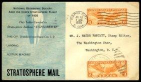 """8: 1935, """"Explorer II"""" FLOWN Cover"""
