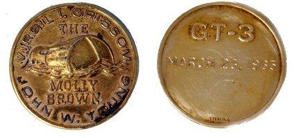 172: Gemini GT-03 FLOWN Gold-Plated Medallion