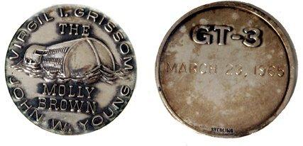 173: Gemini GT-03 FLOWN 29mm Sterling Silver Medallion