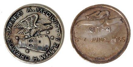 185: Gemini GT-04 FLOWN 29mm Sterling Silver Medallion