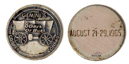 201: Gemini GT-05 FLOWN 29mm Sterling Silver Medallion
