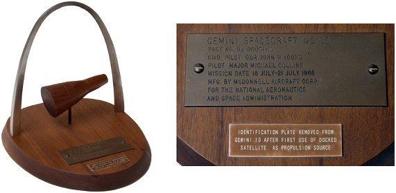 239: FLOWN Gemini 10 ID Plaque