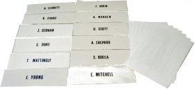 268: Beta Cloth Name Patches Apollo 7-17