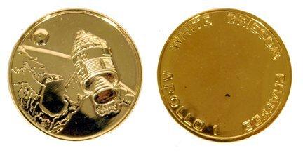 355: Apollo 1 Gold-Plated 30mm Robbins Medallion