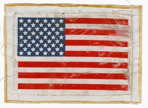 536A: Apollo 12 FLOWN Beta cloth US Flag