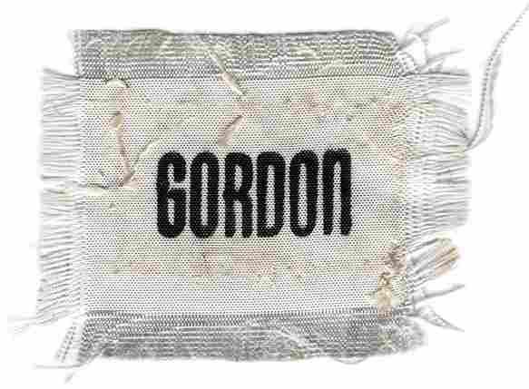 536B: Apollo 12 FLOWN Gordon Name Tag