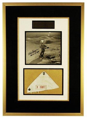 632: Apollo 15 FLOWN Astronaut Dave Scott's Nametag