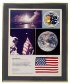 713 FLOWN Apollo XVII Crew Patch  Flag
