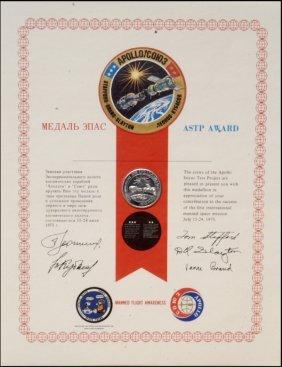 FLOWN ASTP Manned Flight Awareness Medallion