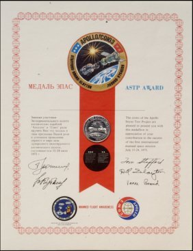 756: FLOWN ASTP Manned Flight Awareness Medallion