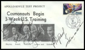 Stafford, Brand, Slayton, Leonov & Kubasov Autogra