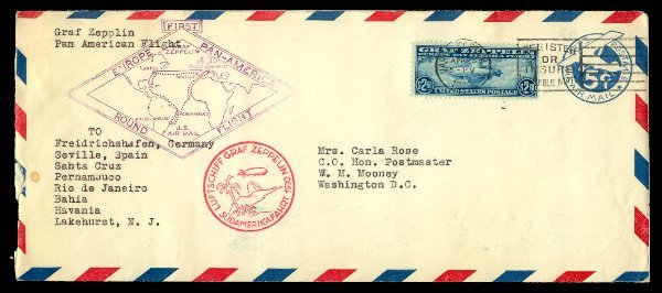 1: Graf Zeppelin Issue Complete used on two c