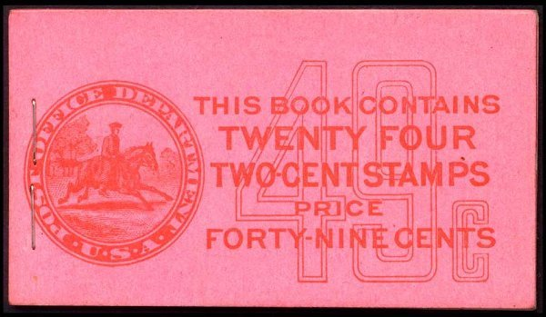 8: 49c Red, Pink Complete Unexploded Booklet