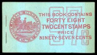 97c Red, Blue Complete Unexploded Booklet