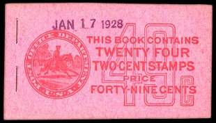 49c Red, Pink Complete Unexploded Booklet
