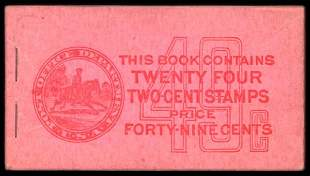 25c Red, Pink Complete Unexploded Booklet