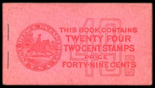 22: 25c Red, Pink Complete Unexploded Booklet