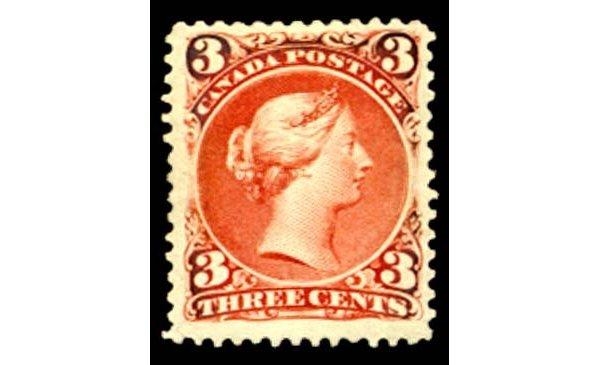 90: 1868, 3c Red A mint single on THICK SOFT