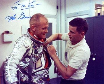 10066: Mercury MA6 John Glenn Autograph