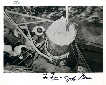10067: Mercury MA6 John Glenn Autograph
