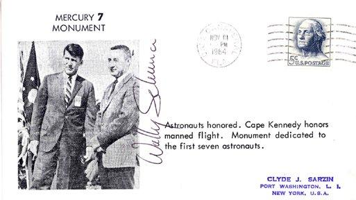 10097: Mercury MA8 Wally Schirra Autograph