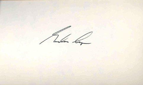 10119: Mercury MA9 Gordon Cooper Autograph