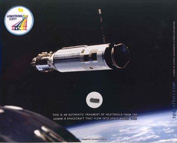 10177: Gemini 8 Heatshield Fragment Armstrong & D