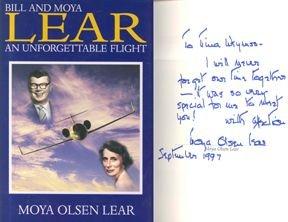 101005: Bill & Moya Lear Autobiography First Edition