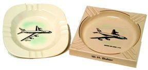 101006: DC 8 & Boeing 720 Commercial Airlines Ashtrays