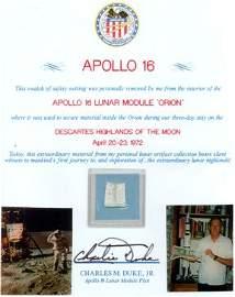 10600: Flown Fragment Apollo 16 Lunar Surface Netting