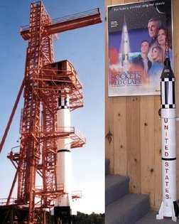 9: 1:12 NASA Mercury Redstone Rocket Model