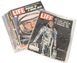 24: Lot of 10 Life Magazines Cooper, Glenn Carpenter