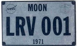 570: Apollo 15 Flown Lunar Surface LRV1 License Plate