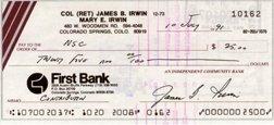 624: Apollo 15 James Irwin Autograph
