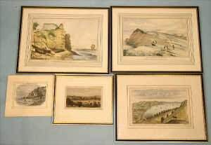 18th century hand coloured engraving of 'S