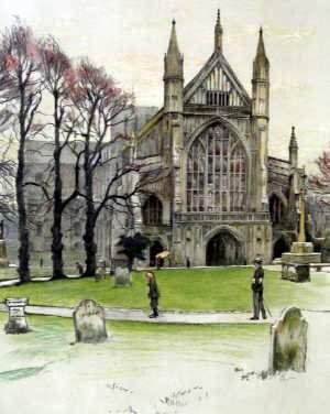 Cecil Aldin Cathedral scene Limited Editio