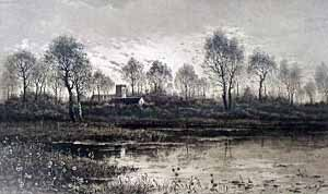 8: Camilla Fonce engraving, river view.
