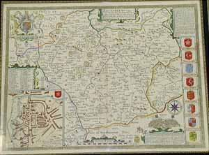 John Speede 'The County of Leicester' Map