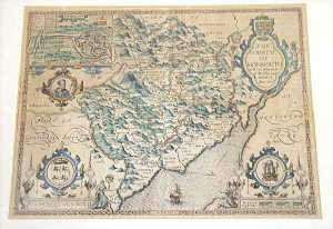 John Speede 'The County of Monmouth' Map,