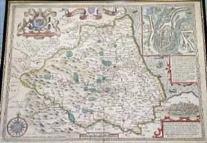 John Speede 'The Bishopric & City of Durh