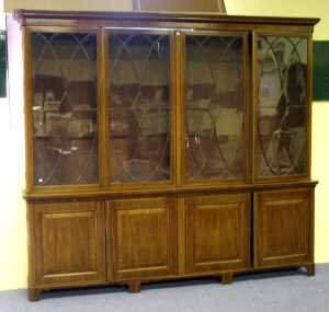 120: 19th century mahogany library bookcase,